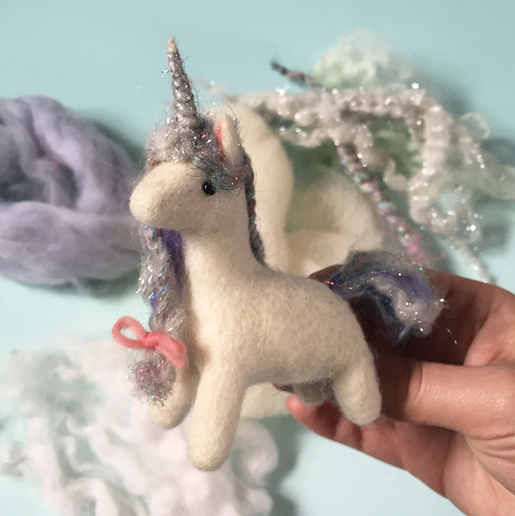 Come to spring farm and felt baby unicorns!