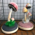 Needle felting classes with toadstools and mushrooms