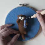 Baby otter made in needle felting class