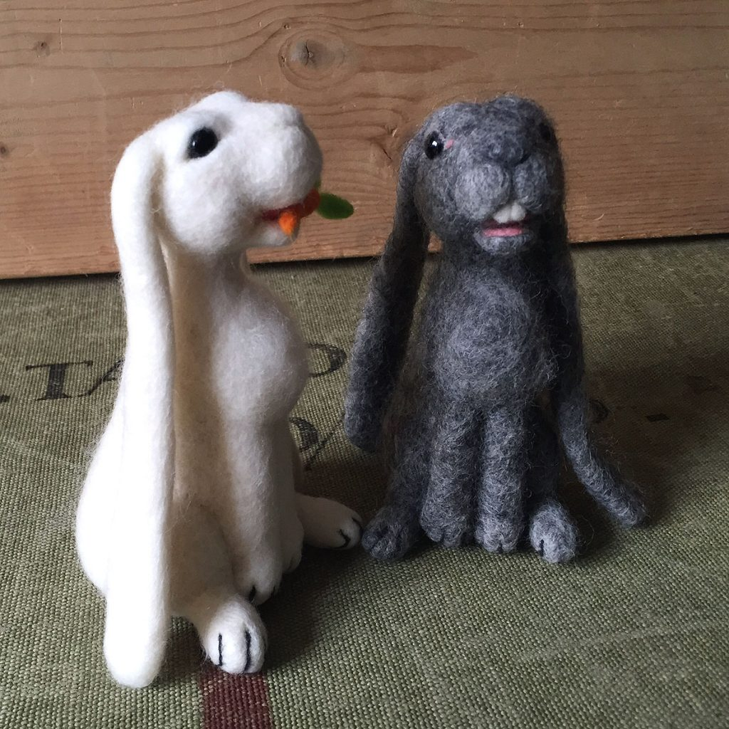 Spring Hares needle felting class