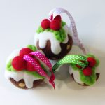 Christmas pudding made in needle felting course