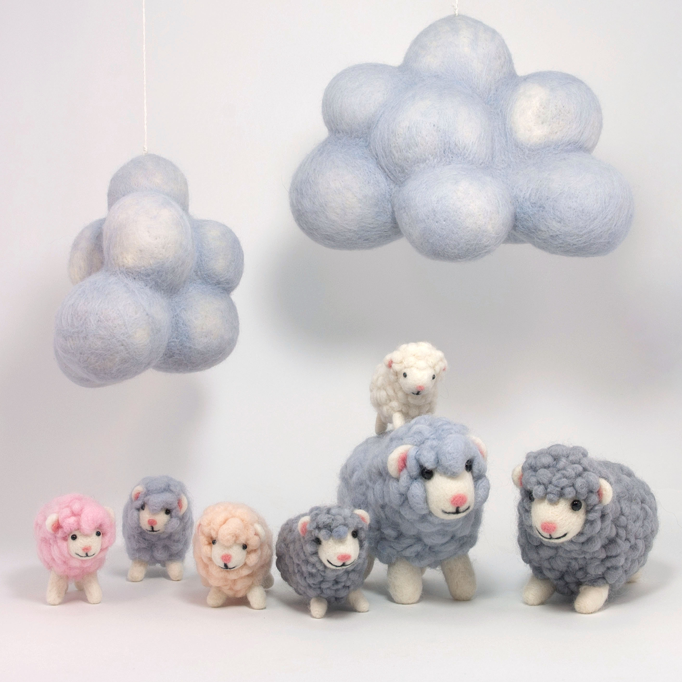 Needle felting workshop to learn how to make spring lambs