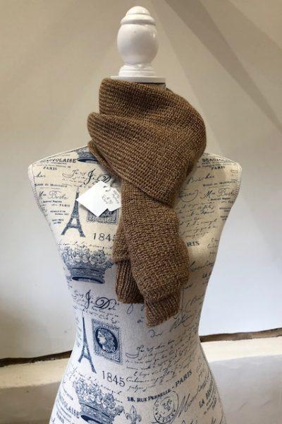 2 ply light fawn/dark fawn scarf