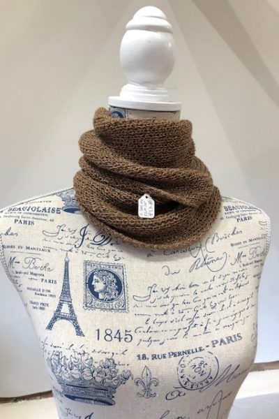 2 ply light brown/fawn suri cowl