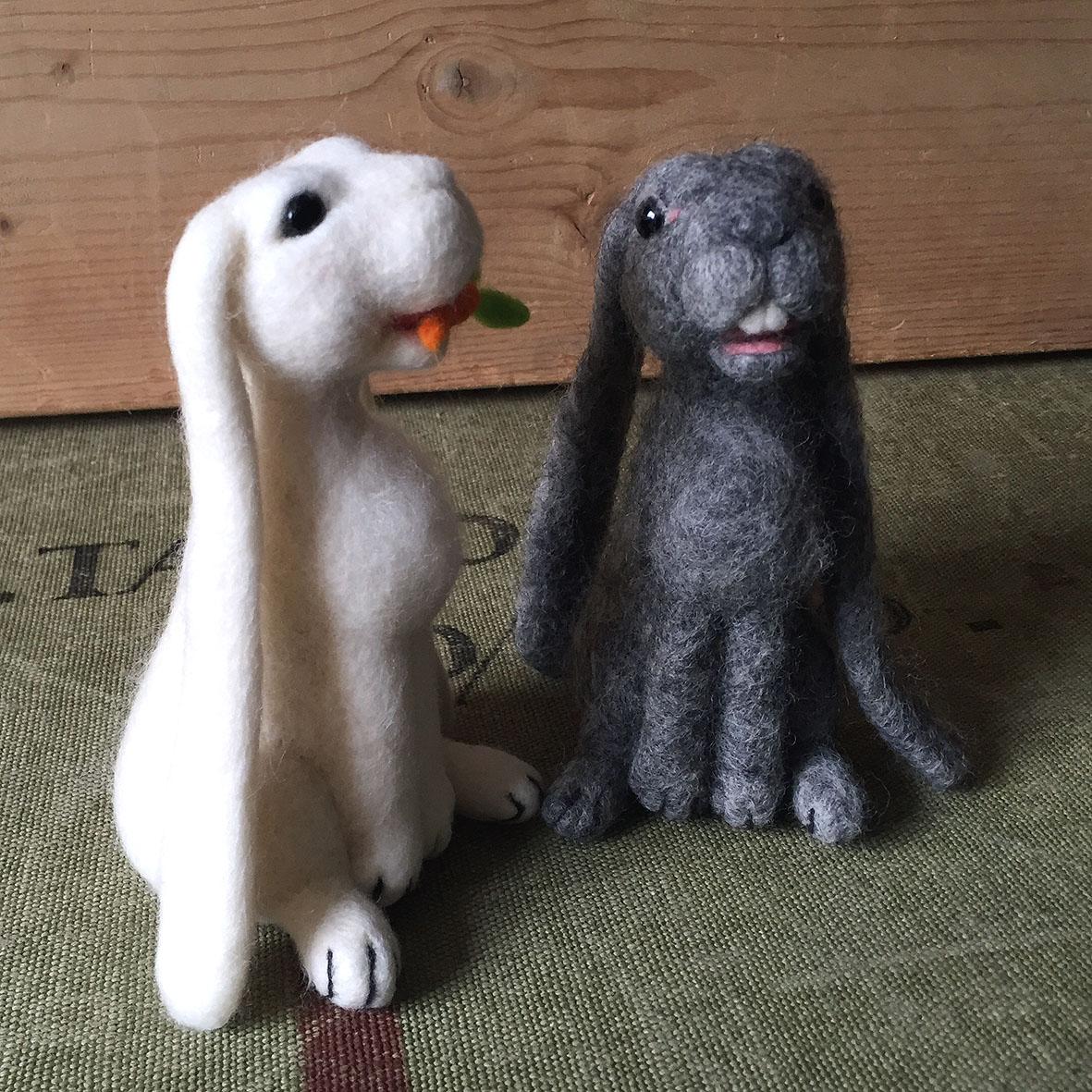 Spring Hares needle felting class