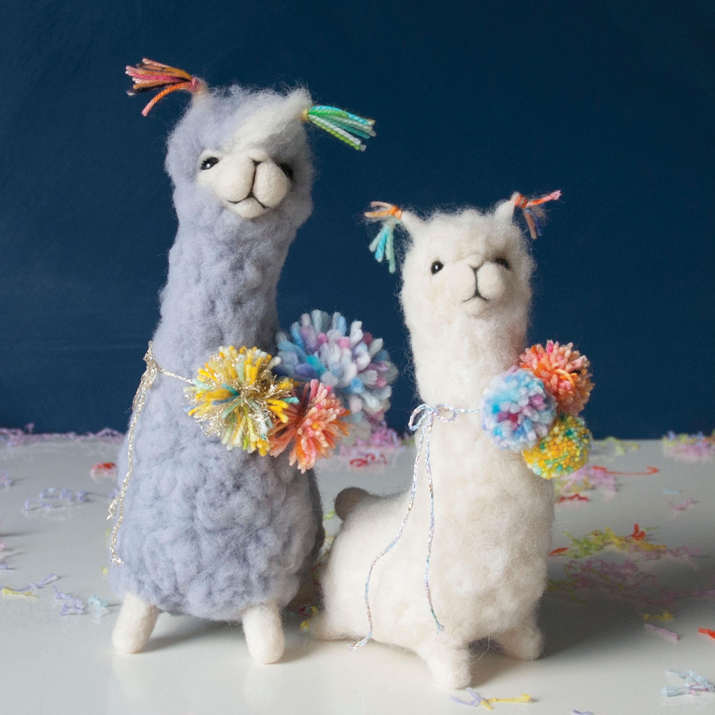 Pom Pom Llamas needle felting class