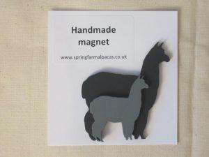 Handmade alpaca fridge magnet