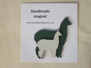alpaca fridge magnet