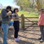 Interview on alpaca walking