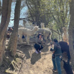 Selfie whilst filming alpaca walking
